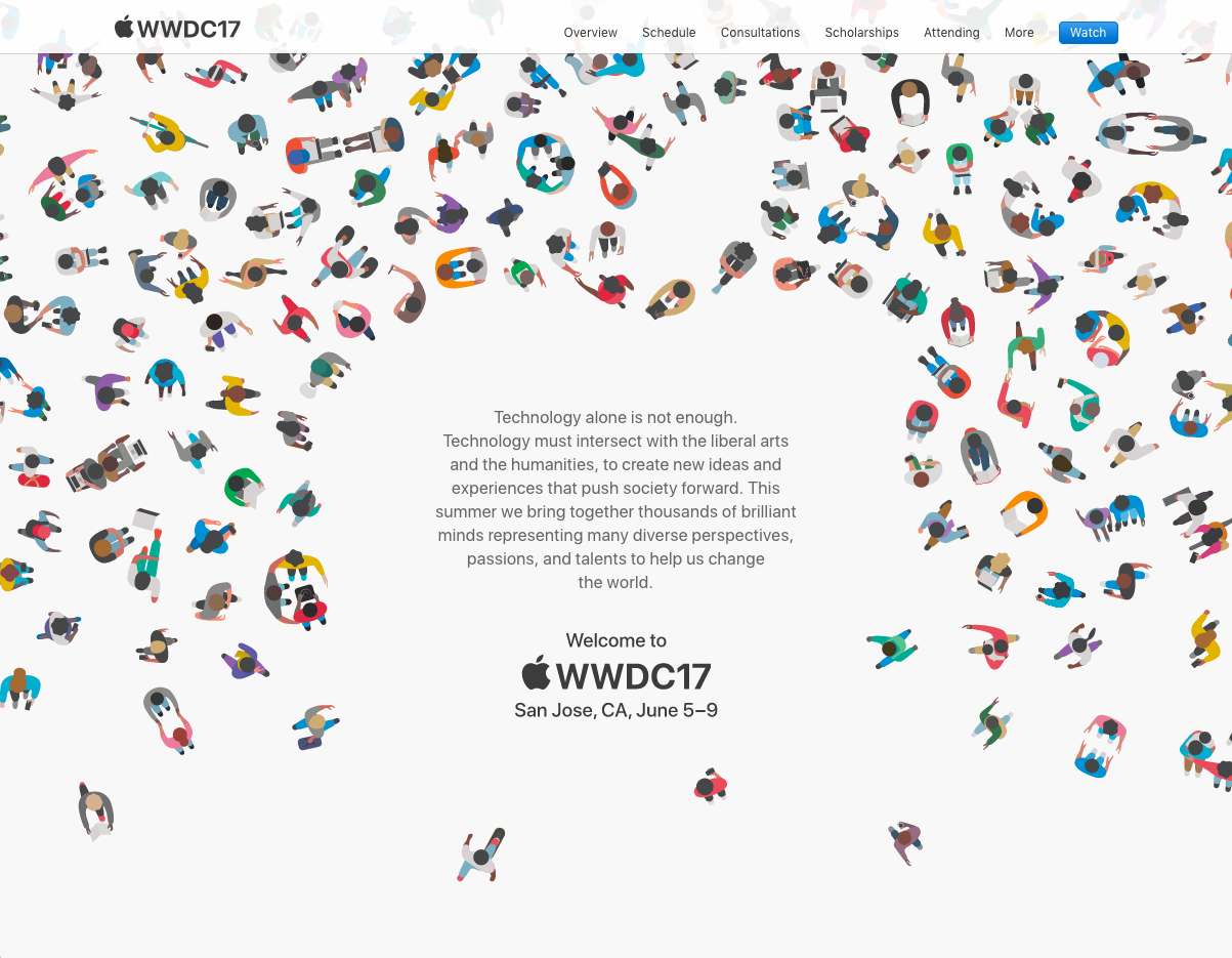 Image of Apple Worldwide Developer Conference Web site
