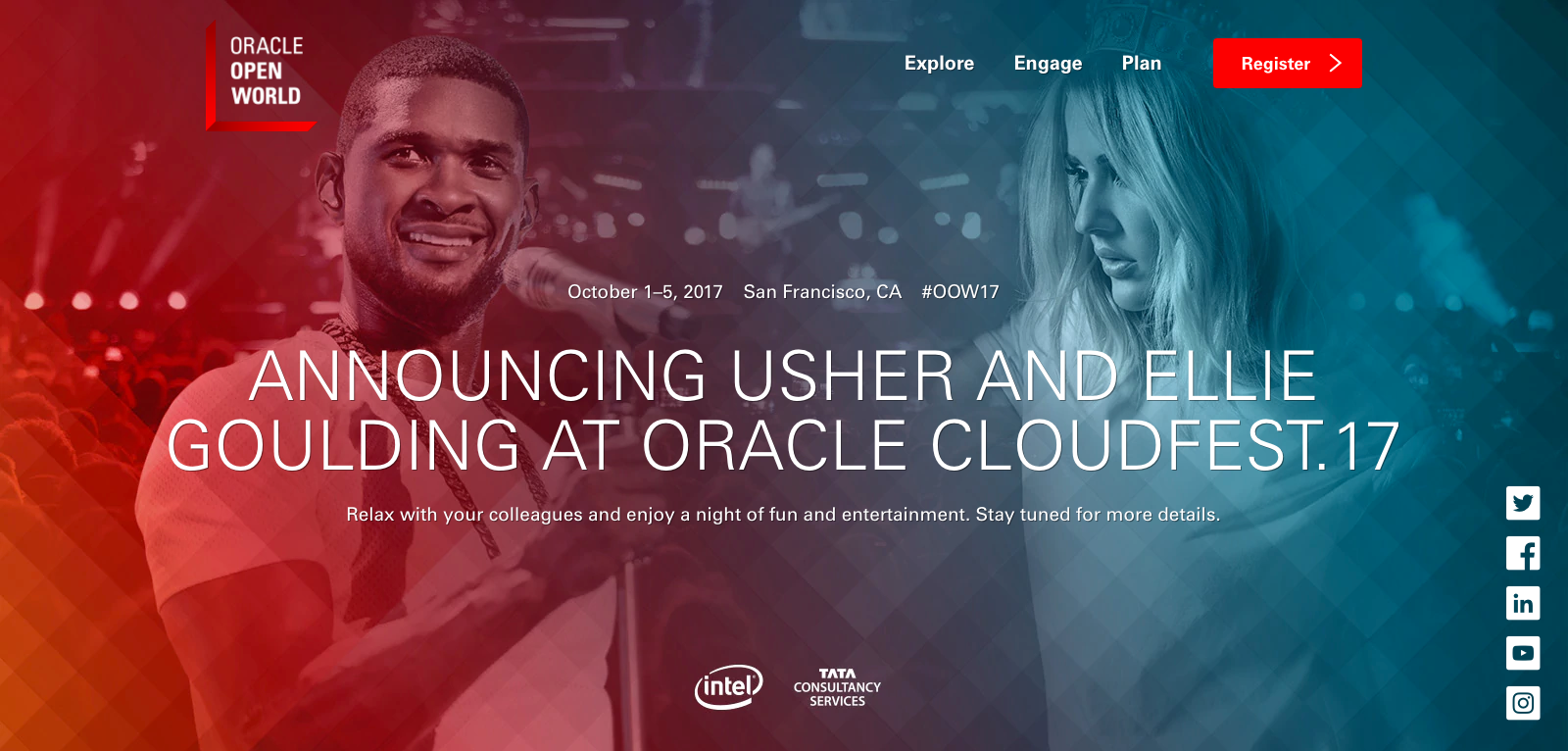 Image of the Oracle OpenWorld Web site